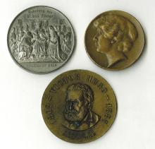 Foreign Medal Trio, ca.1880 to 1930's.