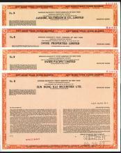 Hong Kong Specimen American Depositary Receipt ?Stock Certificates Quartet.