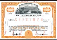 Japan Fund, Inc., ND (ca.1950's), Specimen Stock Certificate.