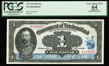 Government of Newfoundland, 1920 High Grade Issued Banknote.