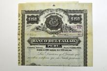 Banco del Callao. 1890.