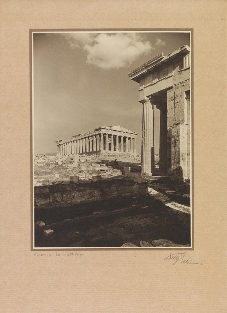 NELLY'S (Elli Sougioultzoglou-Seraidari) - Greek, 1899-1998   Athens, Le Parthenon