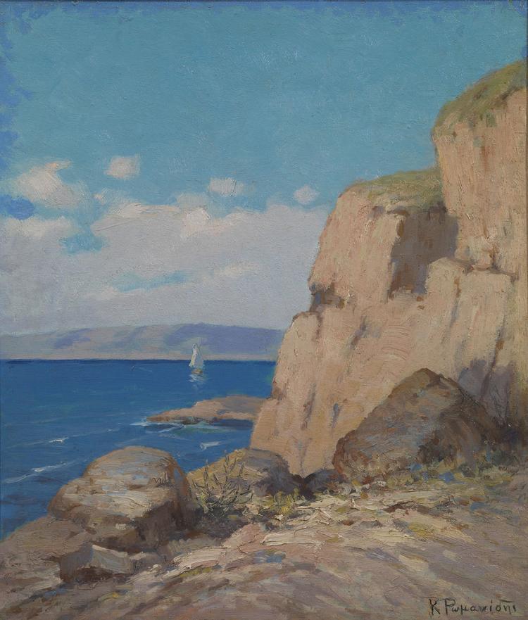 Constantinos ROMANIDES - Greek, 1884-1972 | Coastal landscape
