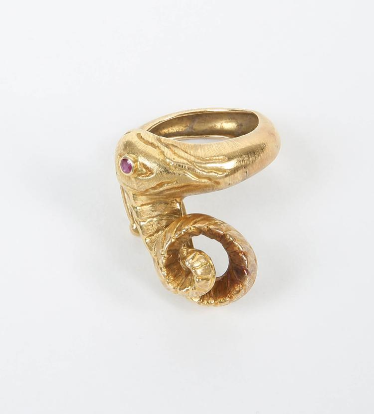 Ilias LALAOUNIS - Greek jeweller | Mythical creature ring in the Hellenistic style