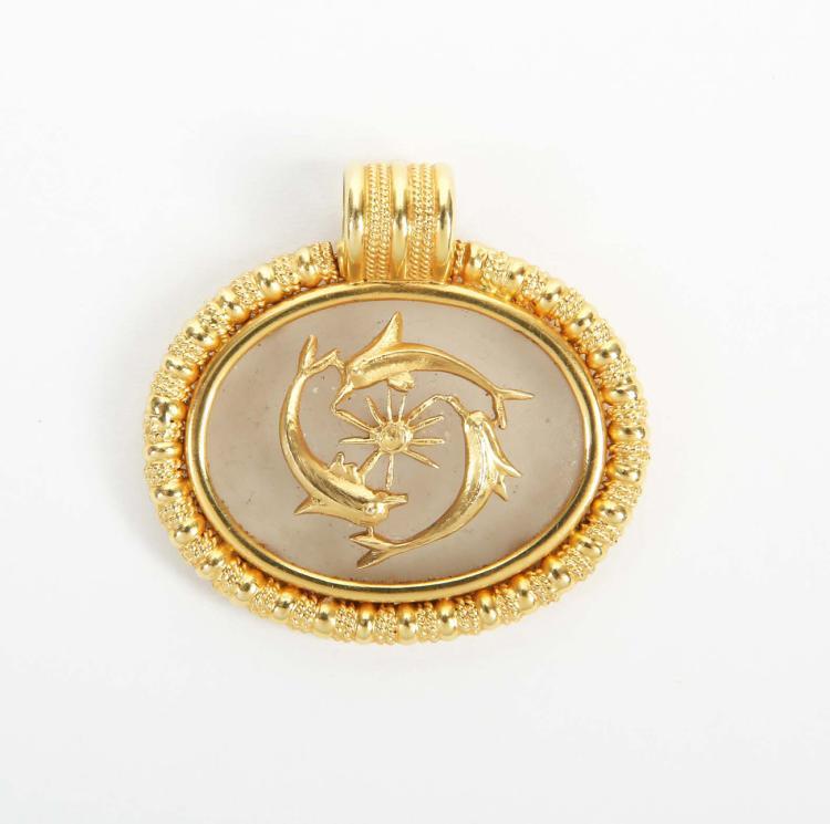 Ilias LALAOUNIS - Greek jeweller | Dolphin motif pendant