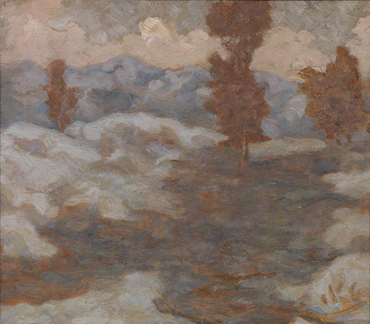 Nikolaos OTHONEOS - Greek, 1877-1949 | Winter landscape