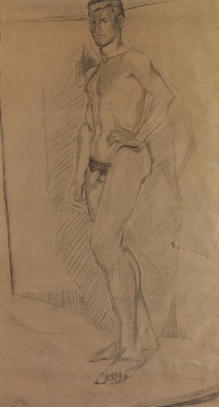 Panagiotis TETSIS - Greek, 1925-2016 | Male nude