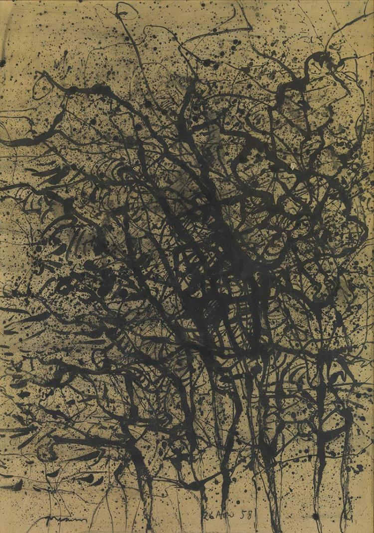 Marios PRASSINOS - Greek, 1916-1985 | Trees