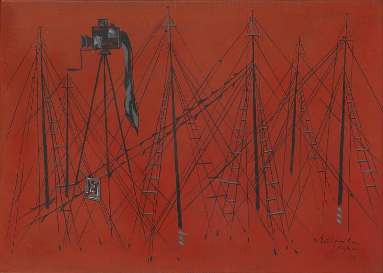 Spyros VASSILIOU - Greek, 1902-1984 | Masts and photographic camera
