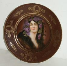 Royal Vienna portrait plate.