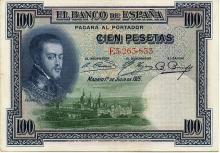 100 PESETAS 1925 SPAGNA