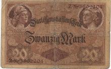 20 MARK 1914 GERMANY BANK NOTE