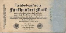 500 MARK 1922 GERMANY BANK NOTE