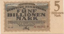 KARLSRUHE 5 BILLIONEN MARK 1923 RARE GERMANY BANK NOTE