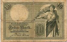 10 MARK 1906 GERMANY BANK NOTE