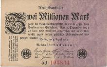 2 MILIONI DI MARCHI 1923 GERMANY