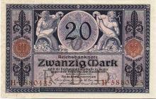 20 MARK 1915 GERMANY BANK NOTE