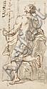 Attribué à Etienne Parrocel Avignon, 1696 - Rouen, 1776 Académie d'homme de dos Plume et encre brune sur trait de sanguine, lavis gr.., Etienne Parrocel, Click for value