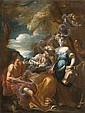Attribué à Giovanni Camillo Sagrestani Florence, 1660 - 1731 Scène mythologique Huile sur papier marouflé sur toile, Giovanni Camillo Sagrestani, Click for value