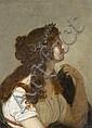 Attribué à Bénigne Gagneraux Dijon, 1756 – Florence, 1795 Etude présumée pour Sapho Huile sur toile marouflée sur carton
