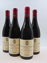 4 bouteilles BONNES MARES 2006 Grand Cru