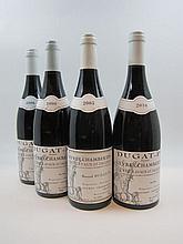 4 bouteilles 1 bt : GEVREY CHAMBERTIN 2005 1er Cru Lavaux Saint Jacques. Bernard Dugat Py