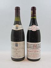 9 bouteilles : 6 bts Chorey Les Beaune 1989 Vieilles Vignes Les Beaumonts. Domaine Charles Allexant, 3 bts Volnay 1989  1er cru Clos...
