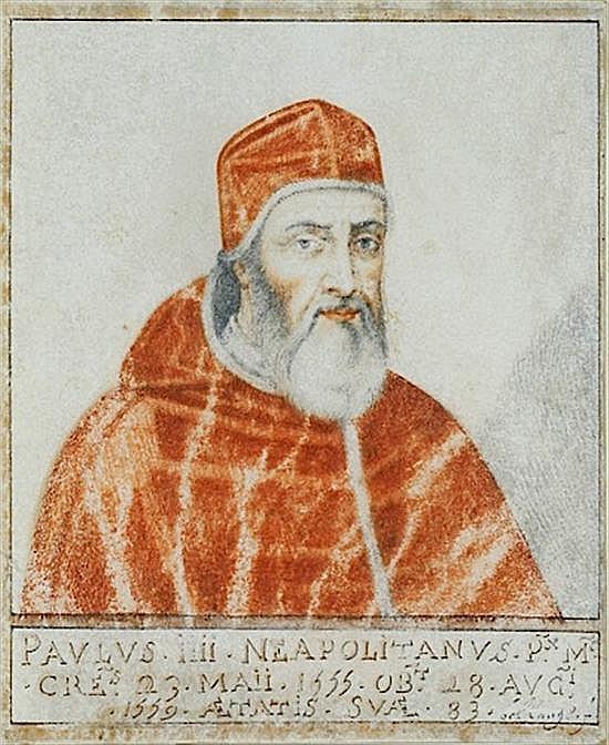 Thierry BELLANGE Nancy, 1594 - 1638 Portrait des papes Martin V, Paul IV et Pie II Crayon noir et aquarelle sur vélin