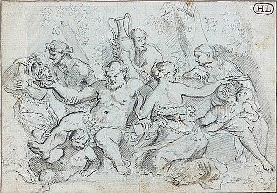 Anicet-Charles-Gabriel LEMONNIER Rouen, 1743 - Paris, 1824 Hercule combattant le centaure Crayon noir