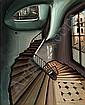 Sam SZAFRAN (né en 1930) ESCALIER ANAMORPHIQUE Crayon et pastels sec sur carton, Sam Szafran, Click for value