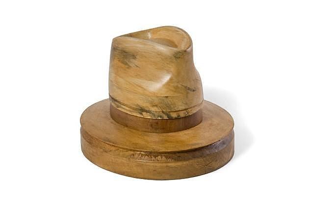 Jean BARTHET Couture Paris (1920-2000) Forme en bois du chapeau de Michael Jackson