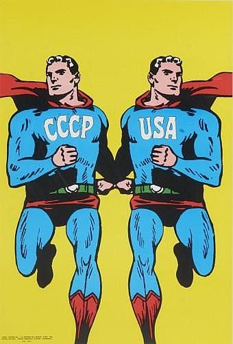 Roman CIESLEWICZ (1930-1996) CCCP/USA , 1966