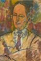 Zygmunt LANDAU (Lodz, Pologne, 1898 - Tel Aviv 1962) PORTRAIT D'HOMME Pastel sur papier, Zygmunt Landau, Click for value