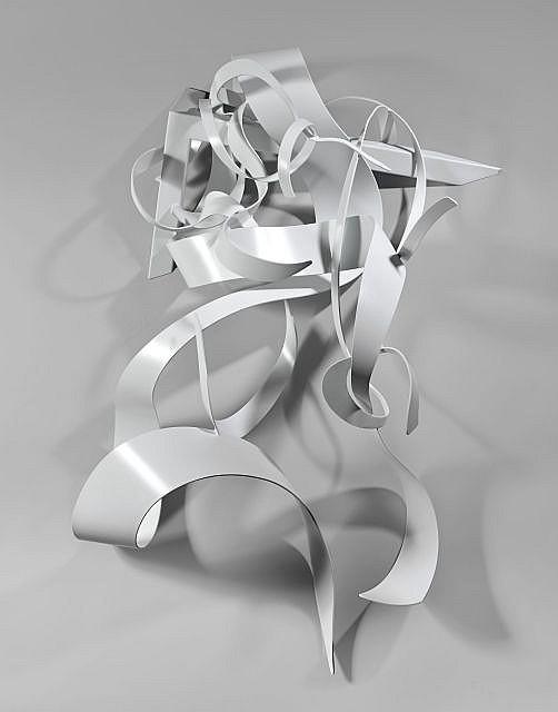 Benoît LEMERCIER (Né en 1965) SUPERCORDES - 2012 Acier peint