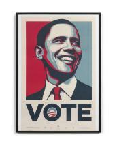 cb3e4a6e8f5 Shepard FAIREY (Alias OBEY GIANT) (Américain - Né en 1970) Obama vote