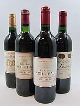8 bouteilles 2 bts : CHÂTEAU LYNCH BAGES 1982 5è GC Pauillac (base goulot, étiquettes sales)