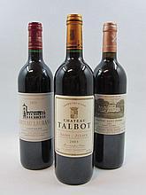 6 bouteilles 2 bts : CHÂTEAU TALBOT 2003 4è GC Saint Julien