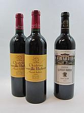 6 bouteilles 4 bts : CHÂTEAU LEOVILLE POYFERRE 2003 2è GC Saint Julien