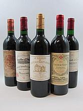 9 bouteilles 1 bt : CHATEAU BAHANS HAUT BRION 1993 Pessac Léognan