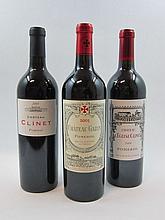 5 bouteilles 1 bt : CHÂTEAU CLINET 2005 Pomerol
