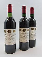6 bouteilles 1 bt : CHATEAU CLOS FOURTET 1982 1er GCC (B) Saint Emilion (base goulot)