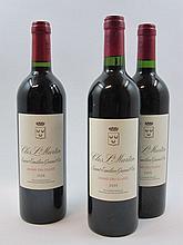 6 bouteilles  2 bts : CHÂTEAU CLOS SAINT MARTIN 2008 GCC Saint Emilion 4 bts : CHÂTEAU CLOS SAINT MARTIN 2005 GCC Saint Emilion