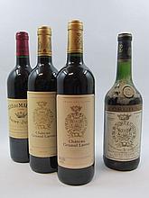 6 bouteilles 1 bt : CHÂTEAU GRUAUD LAROSE 1975 2è GC Saint Julien (niv. 5 cm, étiquette sale)