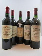5 bouteilles 1 bt : CHÂTEAU LES ORMES DE PEZ 1983 CB Saint Estèphe (base goulot étiquette sale)