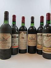 6 bouteilles 2 bts : CHÂTEAU BEYCHEVELLE 1976 4è GC Saint Julien (haute épaule, étiquettes sales)