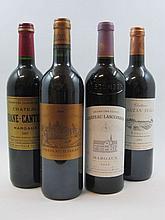 7 bouteilles  2 bts : CHÂTEAU D'ISSAN 2003 3è GC Margaux 1 bt : CHÂTEAU LASCOMBES 2005 2è GC Margaux 2 bts : CHÂTEAU RAUZAN SEGL...