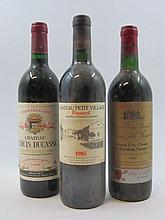 6 bouteilles 2 bts : CHÂTEAU GRAND BARRAIL LAMARZELLE FIGEAC 1986 GC Saint Emilion (étiquettes fanées)