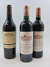6 bouteilles 2 bts : CHÂTEAU GRAND PONTET 1998 GCC Saint Emilion