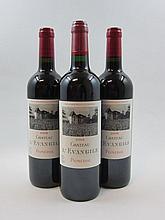 3 bouteilles 2 bts : CHÂTEAU L'EVANGILE 2008 Pomerol
