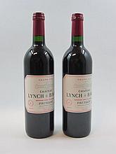5 bouteilles 2 bts : CHÂTEAU LYNCH BAGES 2003 5è GC Pauillac